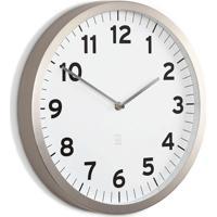 Relógio De Parede De Metal Anytime Umbra Branco 32Cm - 26714