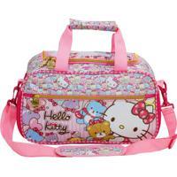 Mala Hello Kitty®- Rosa Claro Vermelha- 21X36X19Cmxeryus