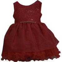 Vestido Infantil Vermelho Festa - Pump 1 Ao 3