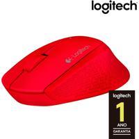 Mouse Óptico Sem Fio Logitech M280 Com Sensor Logitech Advanced Optical Tracking, 3 Botões, Resolução De 1000Dpi, Compatibilidade Unifying E Vermelho