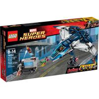Super Heroes Marvel Avengers A Perseguição Dos Vingadores Na Cidade Com Quinjet Lego Colorido