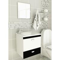 Kit Para Banheiro 3 Peças Sintético Espelho Preto Tomdo