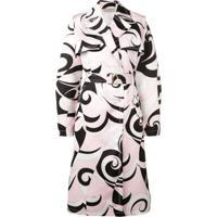 Emilio Pucci Trench Coat Estampado - Rosa