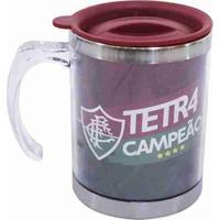 Caneca Térmica Com Tampa 450Ml - Fluminense - Unissex-Vermelho