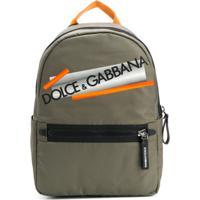 Dolce & Gabbana Kids Mochila Com Logo - Verde