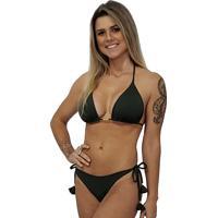 Calcinha Anaju Empina Bumbum Verde Militar - Verde Militar - Feminino - Dafiti