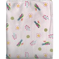 Cobertor Em Algodão Para Bebê Arara Rosa 70 X 90Cm Rosa