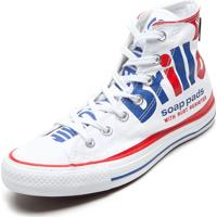 Tênis Converse Ct All Star Classic Hi Andy Warhol Branco