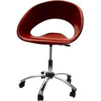 Cadeira One Giratoria Cromada C/Braco Cor Chocolate - 22657 - Sun House