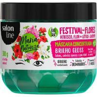 Máscara Concentrada Salon Line - Maria Natureza Festival Flores Brilho - 300Gr - Unissex-Incolor