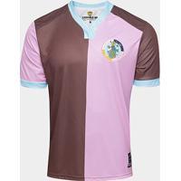 Camisa Corinthian Casuals Home 17/18 Torcedor - Masculina - Masculino-Marrom+Rosa