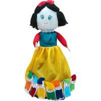 Boneca Dupla Face 100% Artesanal Kits E Gifts Branca De Neve/Bruxa E Os 7 Anões (Dedoches) Multicolorido