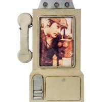 Porta Retrato Telefone Cinza Oldway 31X32X3