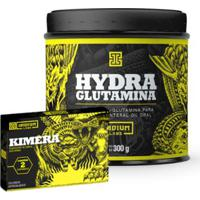 Kit Glutamina Hydra Iridium 300G + 2 Tabletes Kimera Original Iridium Labs - Unissex