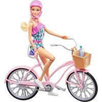 Boneca Barbie E Bicicleta Ftv96 Mattel