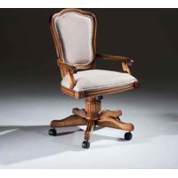 Cadeira Giratória Hillux Com Braço Madeira Maciça Design Clássico Avi Móveis