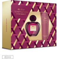 Kit Perfume Her Secret Temptation Antonio Banderas 80Ml