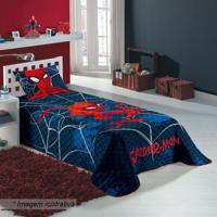 Colcha Matelassê Spider Man® Solteiro- Azul Marinho & Velepper