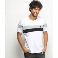 Camiseta Hd Especial Color Duo Masculina - Masculino-Branco