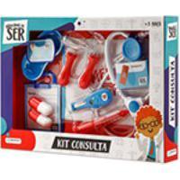 Brincando De Ser Kit Consulta Com Acessorios Azul/Vermelho - Multikids