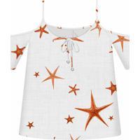 Blusa Recorte Ombro Estampa Starfish - Lez A Lez