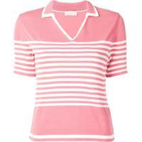Drome Camisa Polo Com Mangas Curtas - Rosa