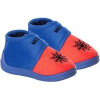 Pantufa Infantil Menino Aranha Azul E Vermelho Stuf Sb0331D02A-25-26