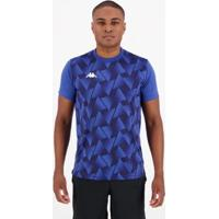 Camisa Kappa Tré Masculina - Masculino-Azul
