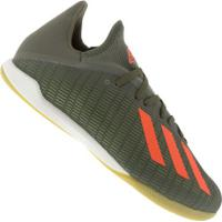 Chuteira Futsal Adidas X 19.3 Ic - Adulto - Verde Esc/Laranja