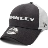 adca9e02e5045 Boné Oakley Heather New Era Hat Graphite - Unissex-Cinza