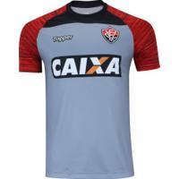 Camisa De Treino Do Vitória 2018 Topper - Masculina - Cinza Vermelho b8b0816b71d5f