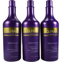 G Hair - Kit Escova Progressiva Shampoo + Condicionador+Tratamento Perfect Blond