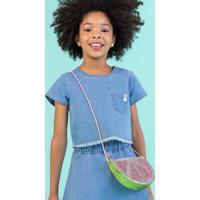 Bolsa Infantil Menina De Glitter Hering Kids