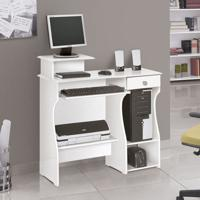 Mesa Para Computador Marina Branco Patrimar