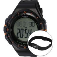 Monitor Cardíaco Speedo 58010G0 Com Cinta Peitoral - Preto