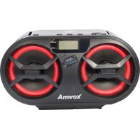 Rádio Amc-595 Cd Usb Auxiliar Bluetooth Rádio Fm Display Digital 15W Rms Preto Amvox Bivolt