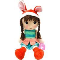 Boneca De Pano Presente Para Bebê Criança De 1+ Ano - Lara