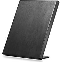 Antena Interna Passiva De Tv Analógica E Digital 4 Em 1 Quadrada Multilaser Â?? Re216 - Padrão