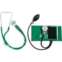 Aparelho De Pressão Verde Com Esteto Rappaport Verde Cjpa208 Pa Med