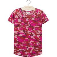 Blusa Le Lis Petit Camuflada Estampado Feminina (Camuflado Pink, 3)