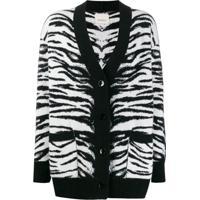 Laneus Cardigan Tiger De Tricô - Preto