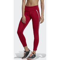 Calça Legging Adidas W Xpr 7 8 Feminina - Feminino-Vermelho