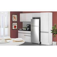 Cozinha Modulada Completa 4 Módulos 100% Mdf Branco - Glamy