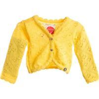 Casaco-Tricot Baby - 1Mais1 - Feminino-Amarelo