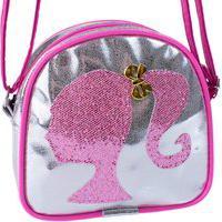 Bolsa Infantil Menina Da Barbie Nova Transversal Luxo Charmosa Promoção Prata