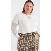 Blusa Lisa Em Retilínea Curve & Plus Size