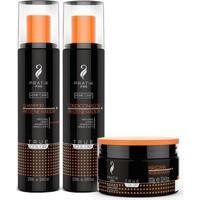 Kit Regenerador Shampoo Condicionador E Máscara Pratik Pro - Unissex-Incolor