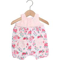 Macacão Tip Top Curto Baby Menina Rosa