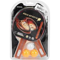 ac072a5b99 Netshoes  Kit Para Tenis De Mesa Gold Sports - Premium Com 2 Raquetes