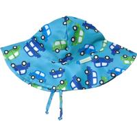 Chapéu Com Aba Larga Carrinho Fpu 50+ Ecobabies Azul